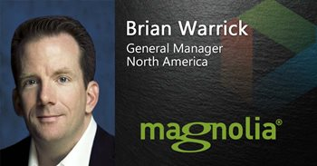 Brian Warrick General Manager North Americs works for Magnolia, which Gartner has nominated as a Top CMS platform.