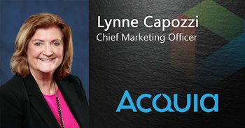 Lynne Capozzi Chief Marketing Officer works for Acquia, which Gartner has nominated as a Top CMS platform.
