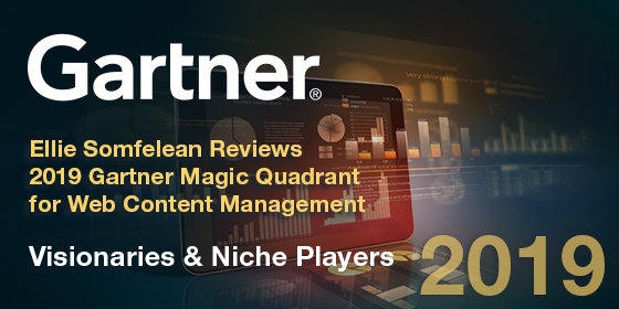 2019 Gartner Magic Quadrant for WCM — Visionaries & Niche Players