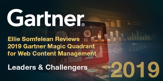 2019 Gartner Magic Quadrant for WCM —  Leaders & Challengers